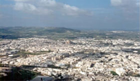 Arial view of Mosta